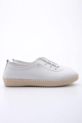 Marjin Kadın Beyaz Hakiki Deri Comfort Ayakkabı Ritok 3