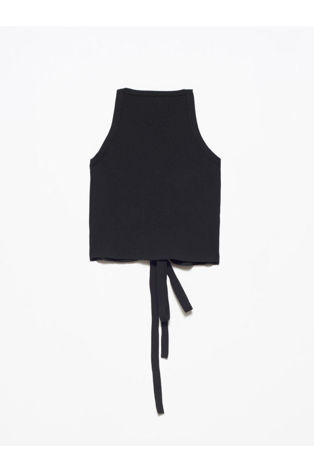 Kadın Siyah Arkası Çapraz Askılı Atlet 2856