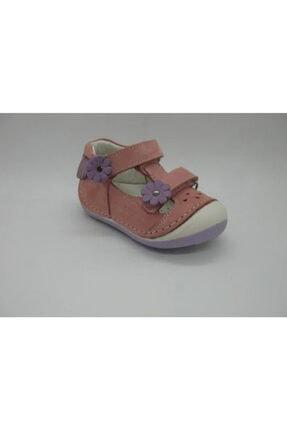 Picture of Kız Çocuk Pembe Deri Ortopedik Destekli İlk Adım Ayakkabı 4111