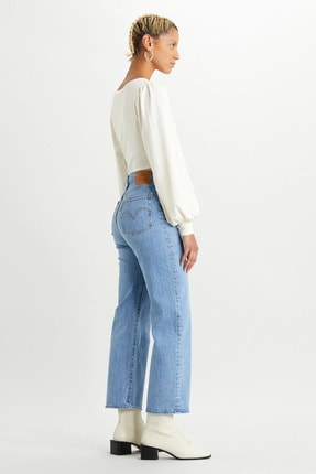Levi's Kadın Mavi Yüksek Bel Pamuklu Ribcage Jeans Kot Pantolon 72693 1