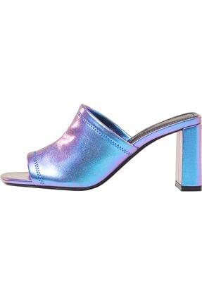 Bershka Yanardöner Metalik Topuklu Sandalet 2