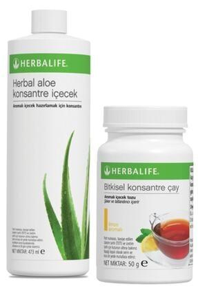Herbalife Set Aloe Konsantre Içecek Limon 50 G Çay 0