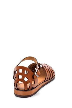 Derimod Kadın Kahverengi Deri Sandalet 3