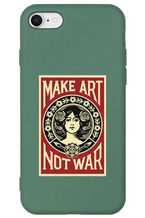 shoptocase Iphone 7 Lansman Make Art Not War Desenli Telefon Kılıfı 0
