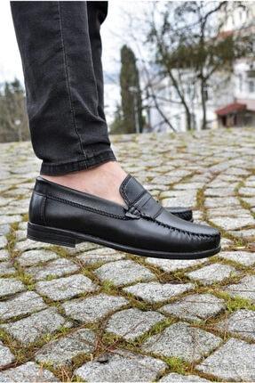 ALBİDÜNYA Erkek Siyah Cilt Klasik Ayakkabı 1