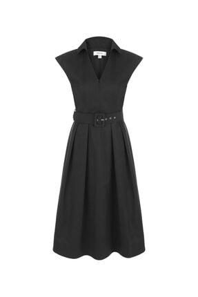 İpekyol Kemerli Midi Elbise 4