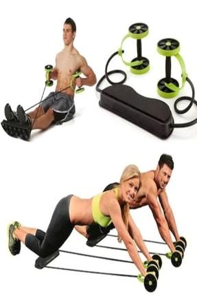 Otantik İpli Tekerlekli Spor Aleti Karın Kası Fitness Kol Bacak Bel Tüm Vücut Spor Aleti 0