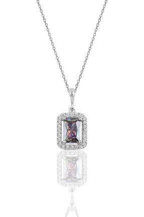 Söğütlü Silver Gümüş Mistik Baget Taşlı Kolye 0