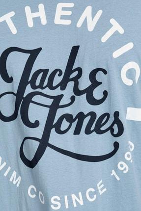 Jack & Jones Erkek Mavi 0 Yaka Tshırt 12182323 2