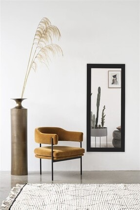 Hüma's Dekoratif Retro Boy Aynası Siyah 110 X 48 Cm 4