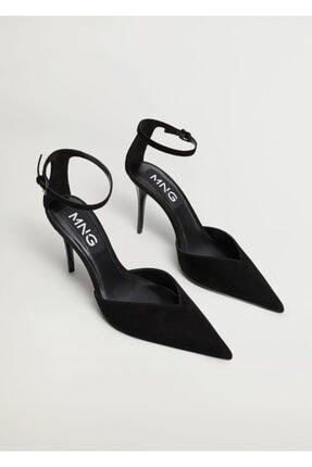 Mango Kadın Siyah Topuklu Deri Ayakkabı 1