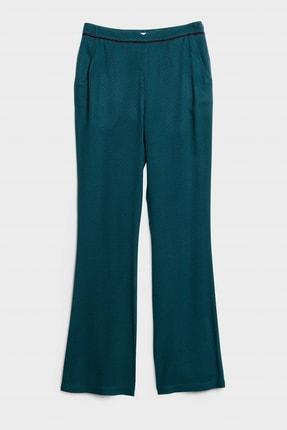 Yargıcı Kadın Mavi Biye Detaylı Pantolon 0