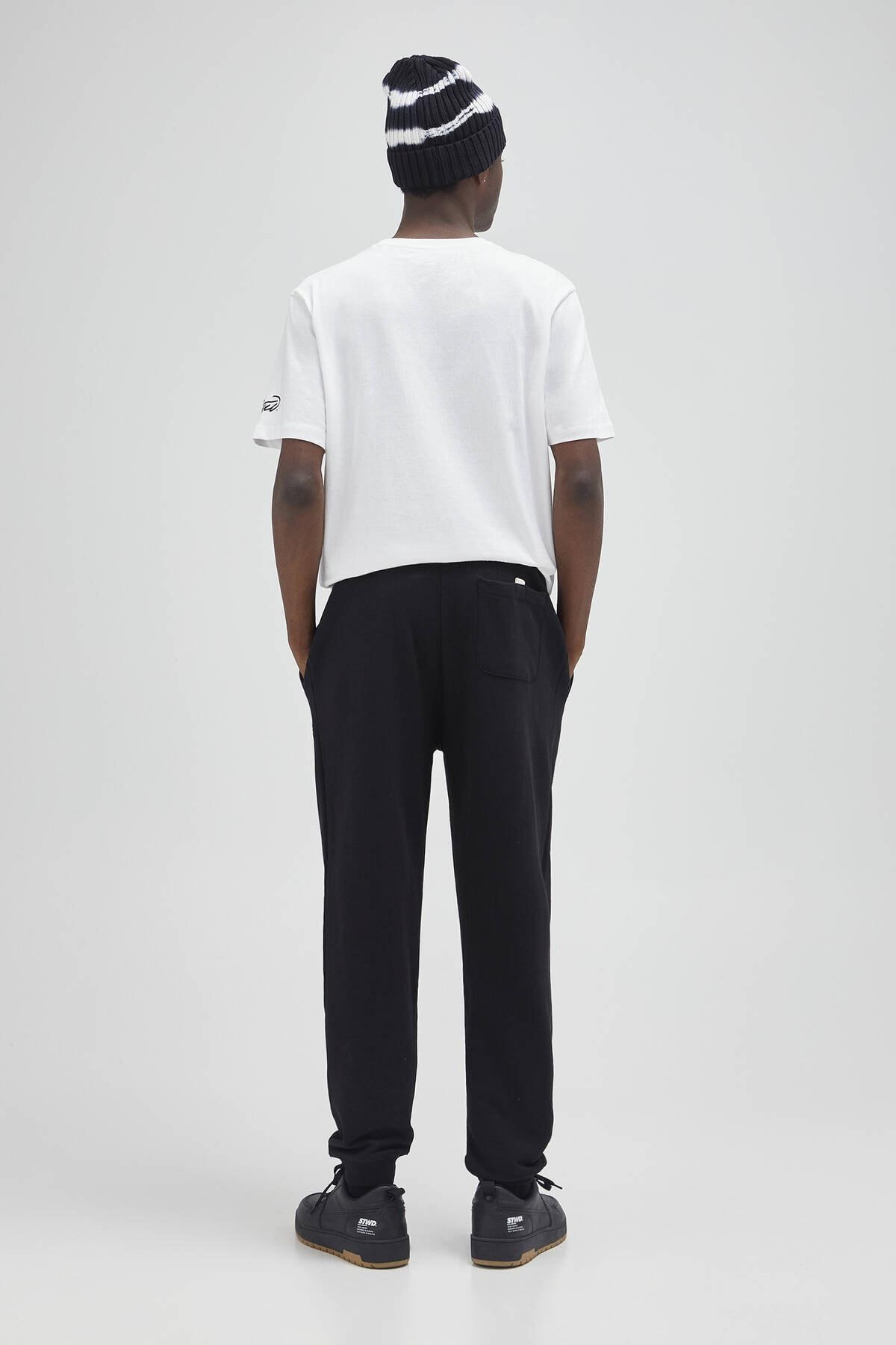 Pull & Bear Erkek Siyah Renkli Jogging Fit Pantolon 04676513 3