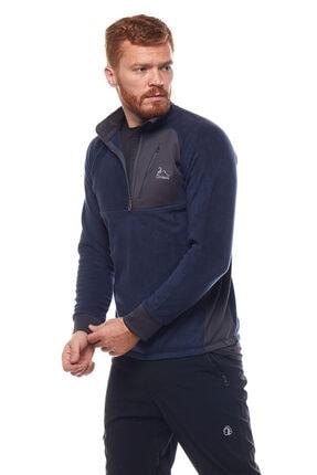 Climbolic Erkek  Ortaçağ Mavisi Yarım Fermuarlı Polar Sweatshirt 0