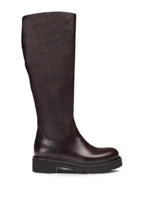 Deery Hakiki Deri Kahverengi Kadın Çizme 01807ZSYHE01 0