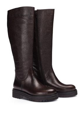 Deery Hakiki Deri Kahverengi Kadın Çizme 01807ZSYHE01 1