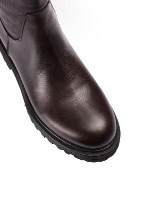 Deery Hakiki Deri Kahverengi Kadın Çizme 01807ZSYHE01 2