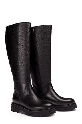 Deery Hakiki Deri Siyah Kadın Çizme 01807ZSYHE01 1