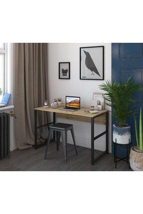 Rani Mobilya Rani C6 Çalışma Ofis Bilgisayar Masası Metal Ayaklı Modern Tasarım Açık Ceviz M1 3