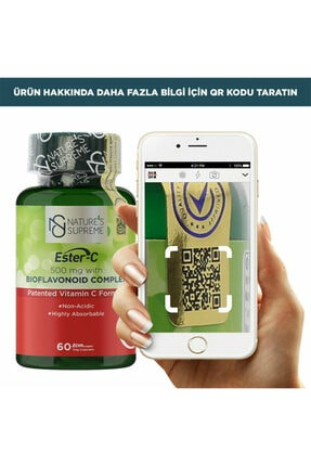 Natures Supreme Ester-c 500 Mg C Vitamini 60 Kapsül 1