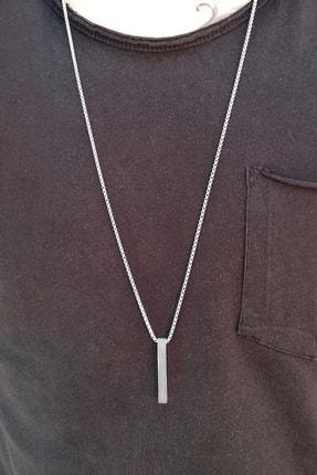 Salyangoz Company Unisex Gümüş Çelik Bar Çubuk Kolye 1