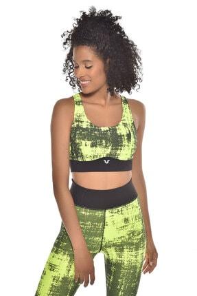 bilcee Neon Yeşil Kadın Sporcu Sütyeni-bra Gw-9227 4