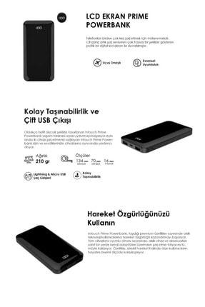 İntouch Prime Dijital Göstergeli Taşınabilir Şarj Cihazı Powerbank 10.000mAh 4