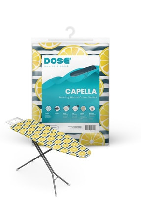 DOSE Capella Ütü Masası Kılıfı Bezi Örtüsü 3 Katmanlı Kalın Lastikli 140x50 cm 0
