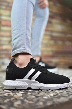 Riccon Siyah Beyaz Erkek Sneaker 00122051 2