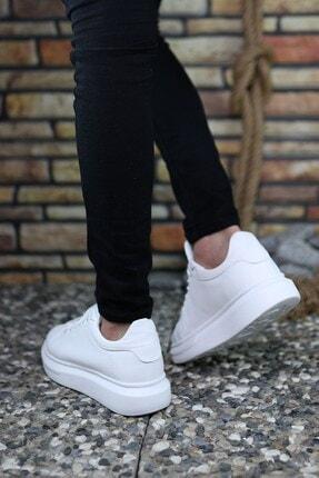 Riccon Beyaz Beyaz Erkek Sneaker 0012360 4