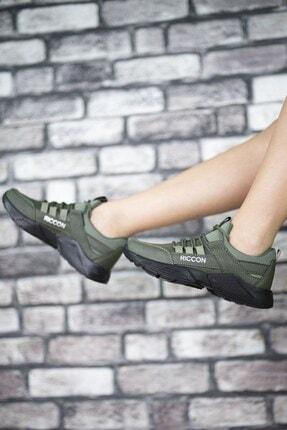 Riccon Unisex Haki Cilt Sneaker 0012072 1