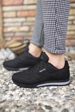 Riccon Siyah Siyah Unisex Cilt Sneaker 0012853 4