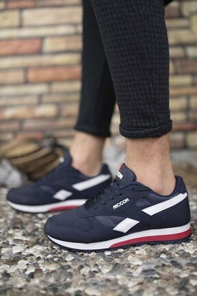 Riccon Lacivert Unisex Cilt Sneaker 0012853 4