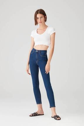Pull & Bear Kadın Camgöbeği Yüksek Bel Skinny Jean 09684309 0