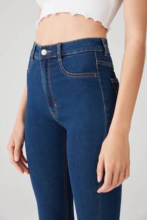 Pull & Bear Kadın Camgöbeği Yüksek Bel Skinny Jean 09684309 4