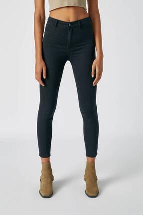 Pull & Bear Kadın Siyah Yüksek Bel Skinny Fit Jean 09684309 4