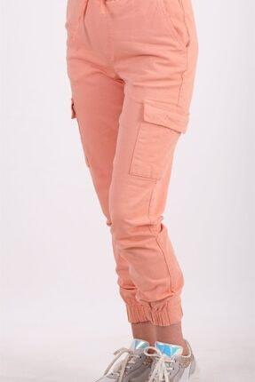 AYSL BUTİK Kadın Somon Beli ve Paçası Lastikli Kargo Pantolon 0