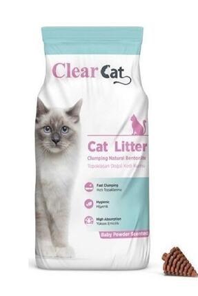 Clear Cat Bentonit Kedi Kumu Bebek Pudrası Kokulu 5 lt 0