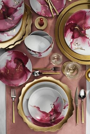 Kütahya Porselen 24 Parça Altın Varaklı Dekoratif Yemek Takımı 0