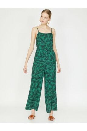 Koton Kadın Yeşil Desenli Tulum 9YAK48659PW 0