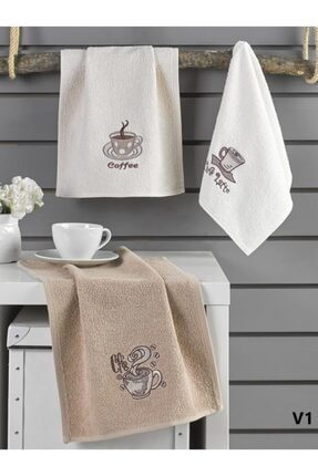 Karna Home Cafe Prima 3'lü Mutfak Havlu Seti 30x50 cm 0
