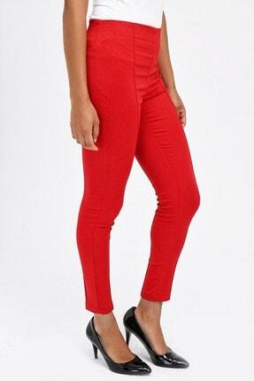 Jument Kadın Kırmızı Ön Arka Dikişli Dar Paça Tayt Pantolon 40004 1