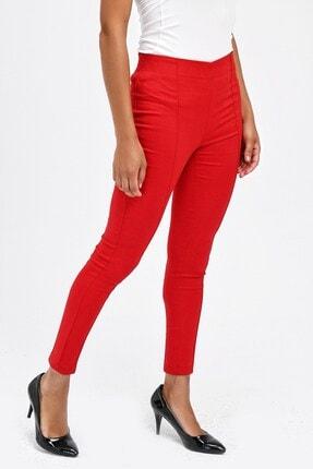 Jument Kadın Kırmızı Ön Arka Dikişli Dar Paça Tayt Pantolon 40004 4