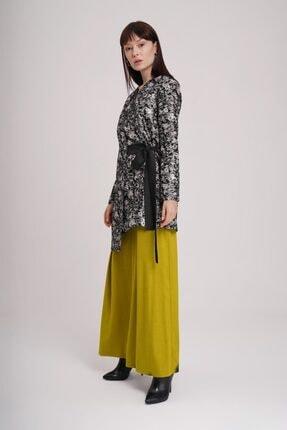 Mizalle Kadın Beyaz Jakarlı Bağlamalı Kimono 3