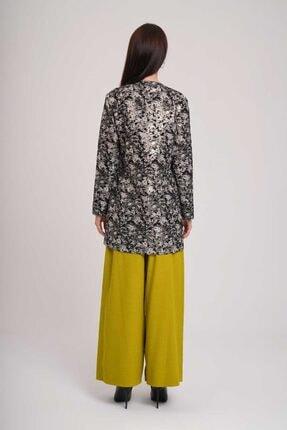 Mizalle Kadın Beyaz Jakarlı Bağlamalı Kimono 4