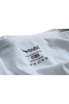 Tuti Underwear Erkek Beyaz Pamuk 6 Adet Klasik Penye Erkek Atlet 2