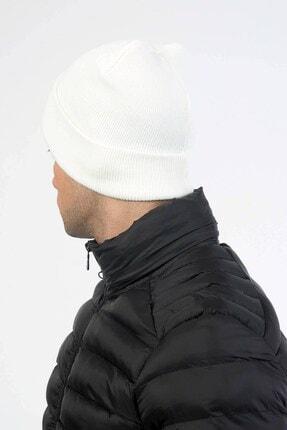 Mossta Katlamalı Erkek Trend Beyaz Bere 2