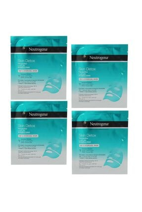 Neutrogena Skin Detox Deniz Yosunu Özlü Arındırıcı Hidrojel Maske 30 Ml 4 Adet 0