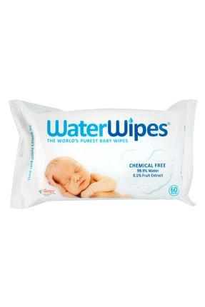 WaterWipes Doğal Islak Mendil Tekli Paket 60 Yaprak 0