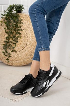 Moda Değirmeni Kadın Siyah Beyaz Sneaker Md1053-101-0001 1